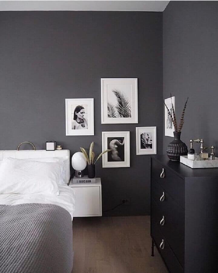 cinza chumbo para decoração de quarto de casal moderno Foto PopSugar