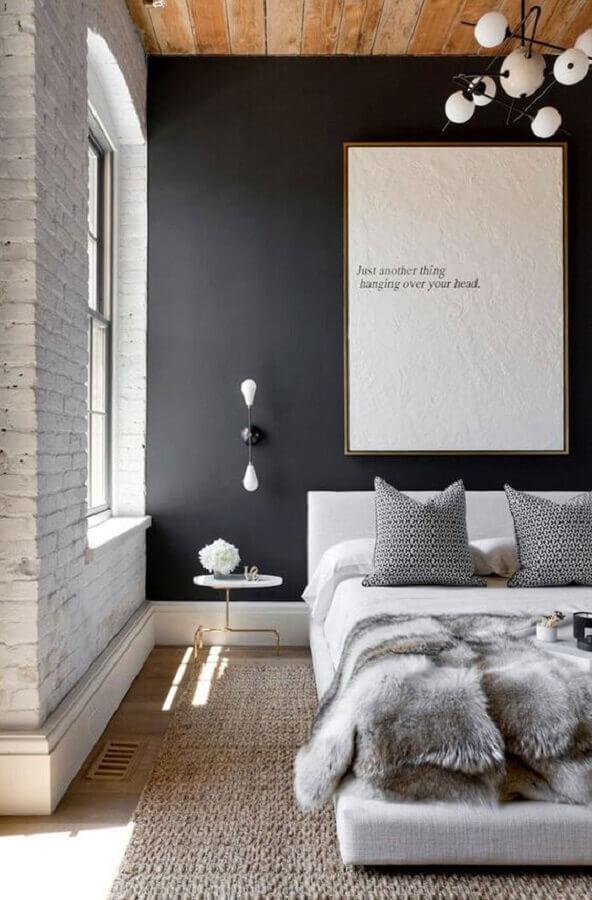 cinza chumbo parede para decoração de quarto de casal com cama japonesa Foto Refinery29