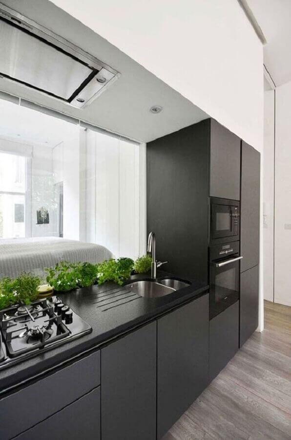 cor cinza chumbo e branco para decoração de cozinha planejada moderna Foto Archilovers