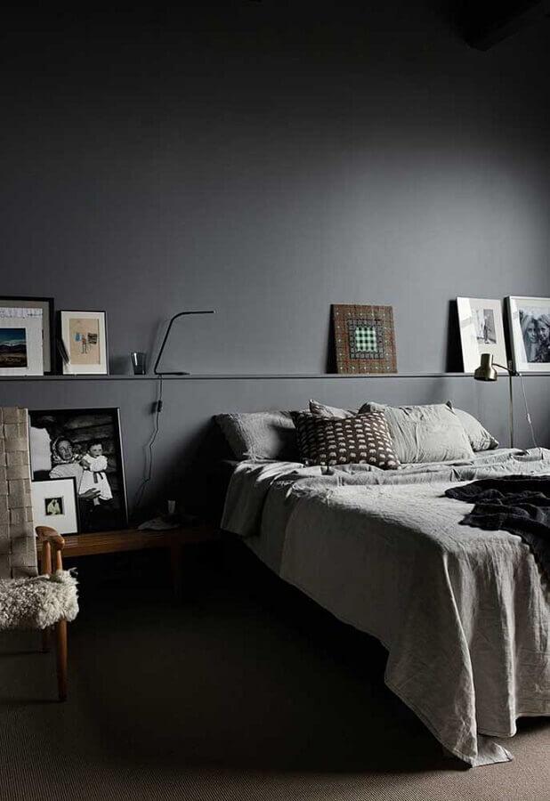 cor cinza chumbo para quarto de casal moderno Foto Pinterest