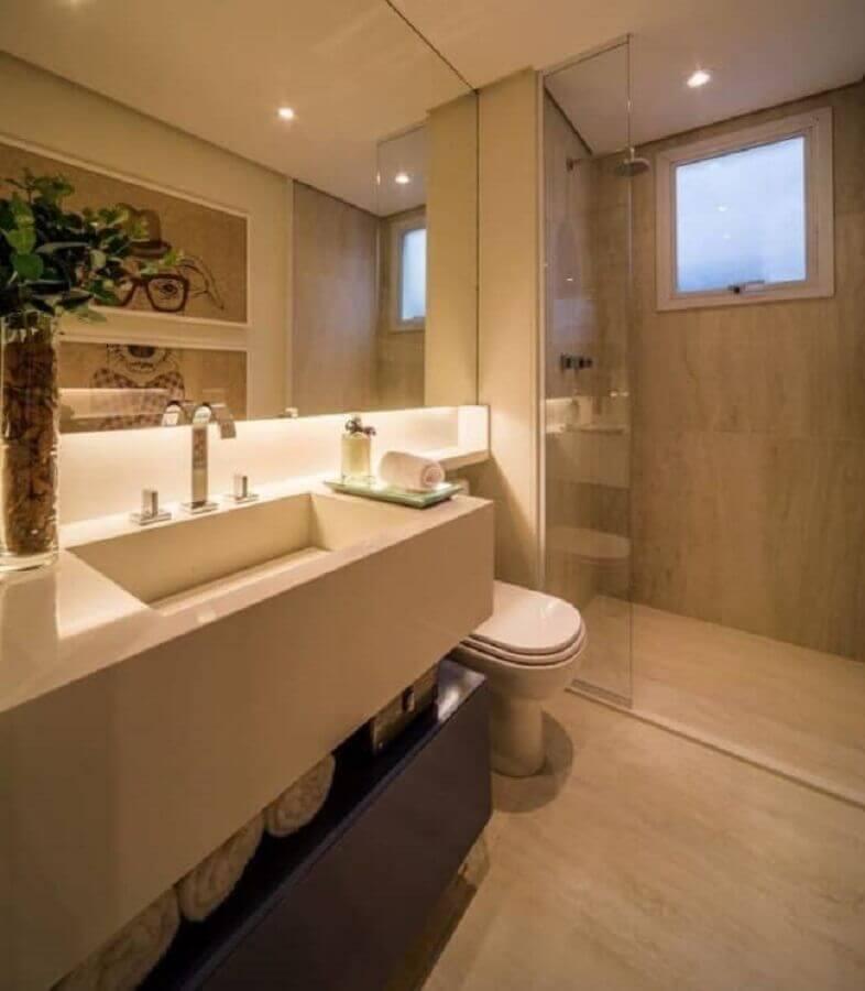 cor creme para banheiro planejado moderno Foto Pinterest