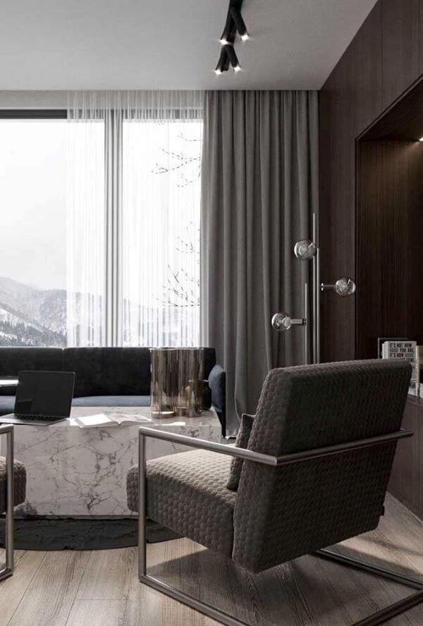 Cortina blecaute na sala de estar