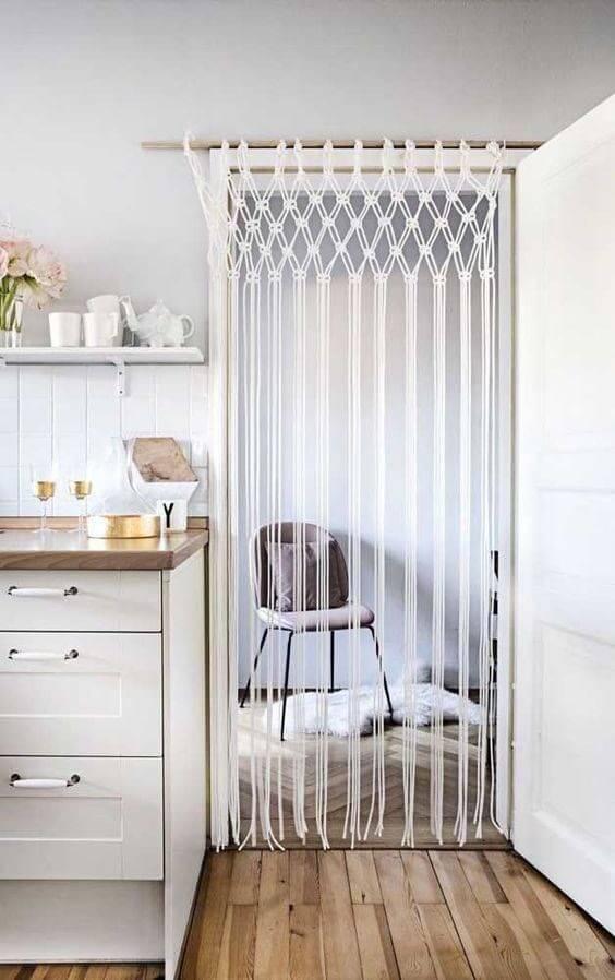 As cortinas de crochê também pode dividir ambientes