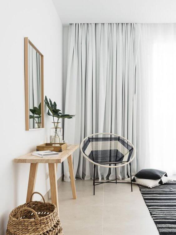 Cortina blecaute para cortineiro de gesso