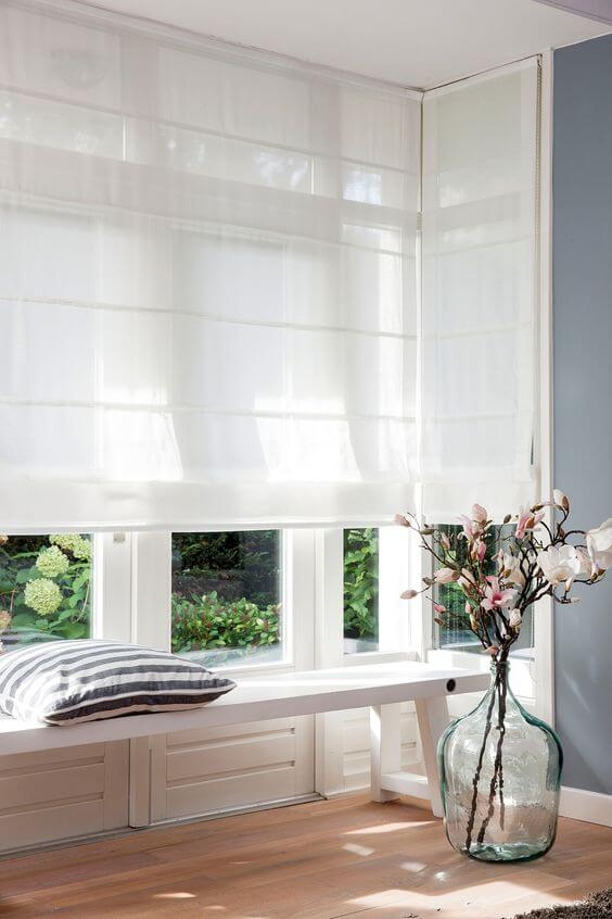 Cortina persiana para casa moderna