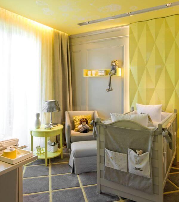 Cortina para quarto de bebê iluminado