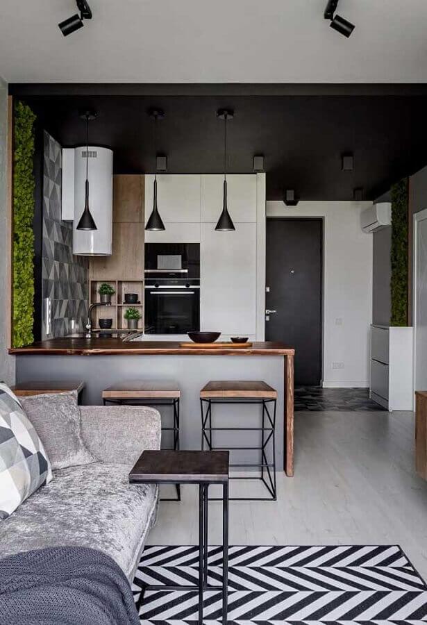 cozinha completa americana pequena Foto Pinterest