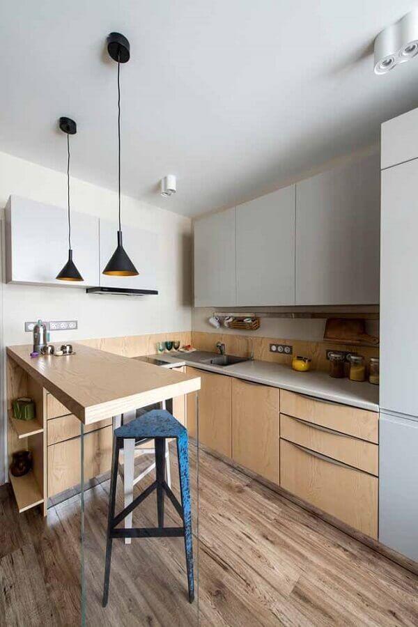 cozinha completa com decoração simples Foto Ideias Decor