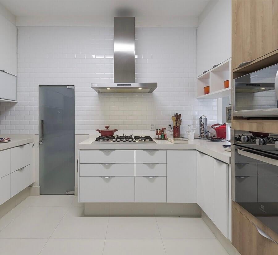 cozinha completa com pia e cooktop Foto Pinterest
