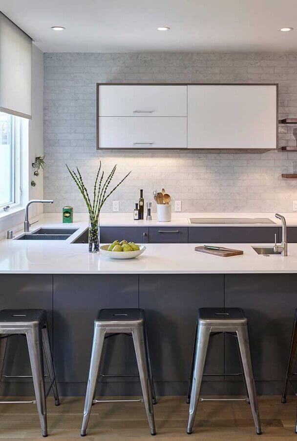 cozinha completa em U Foto Houzz