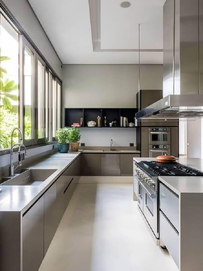 cozinha completa moderna e ampla Foto Casa de Valentina