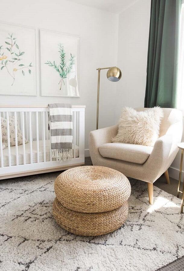 decoração clean para quarto de bebê simples e bonito Foto We Heart It