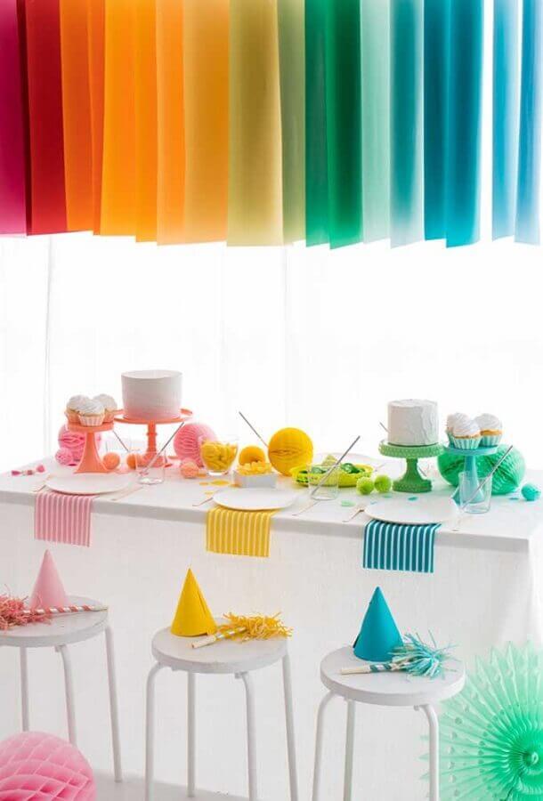 decoração colorida para festa de aniversário infantil simples Foto Oh Happy Day!