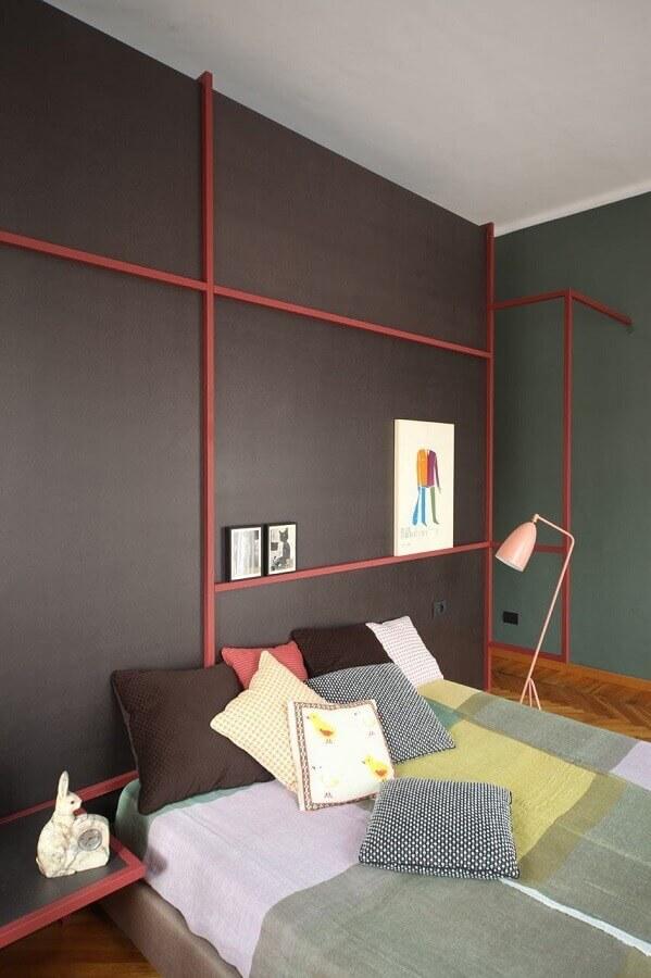 decoração com quartos bonitos e modernos com detalhes coloridos Foto Archilovers