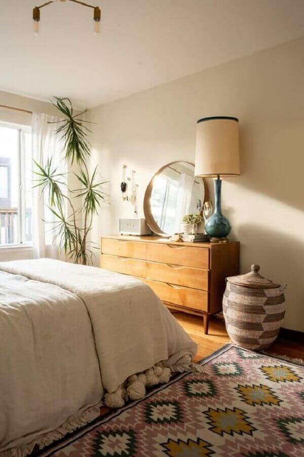 decoração com tapete para quarto Foto Apartment Therapy