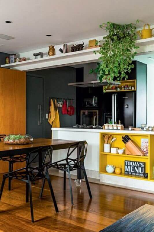 decoração de casa moderna com vasos de plantas pendentes Foto Histórias de Casa