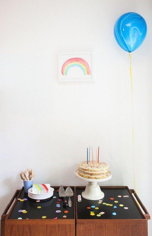 decoração de festa infantil simples e barata Foto Pinterest