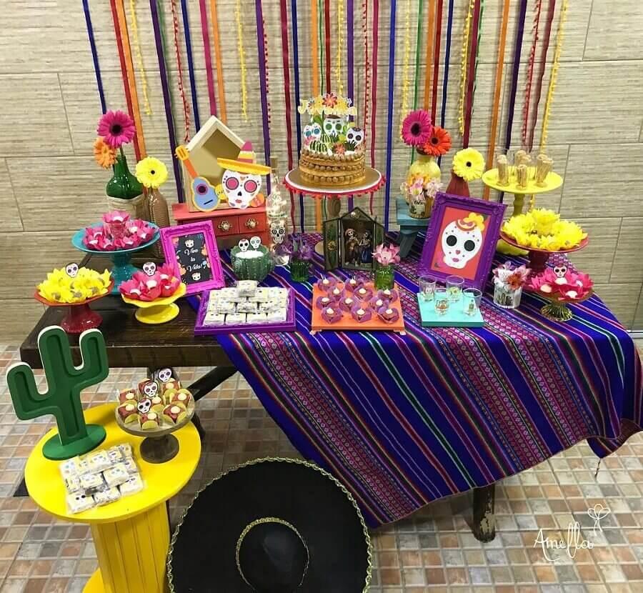 simple mexican party decoration Foto Pinterest