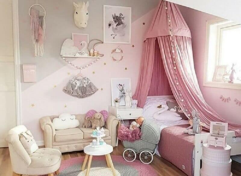 decoração de quarto de menina unicórnio Foto Toda Atual