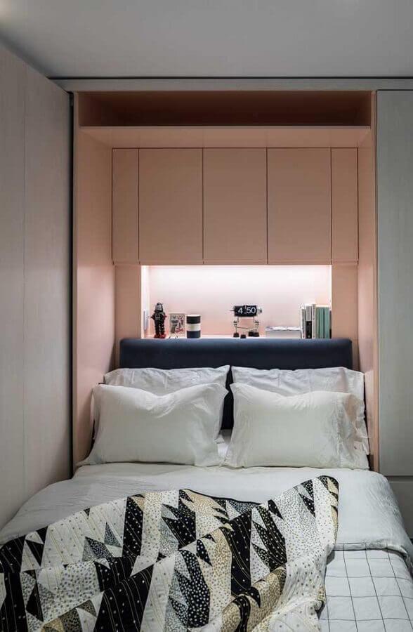 decoração de quarto de solteiro feminino planejado Foto Home Fashion Trend