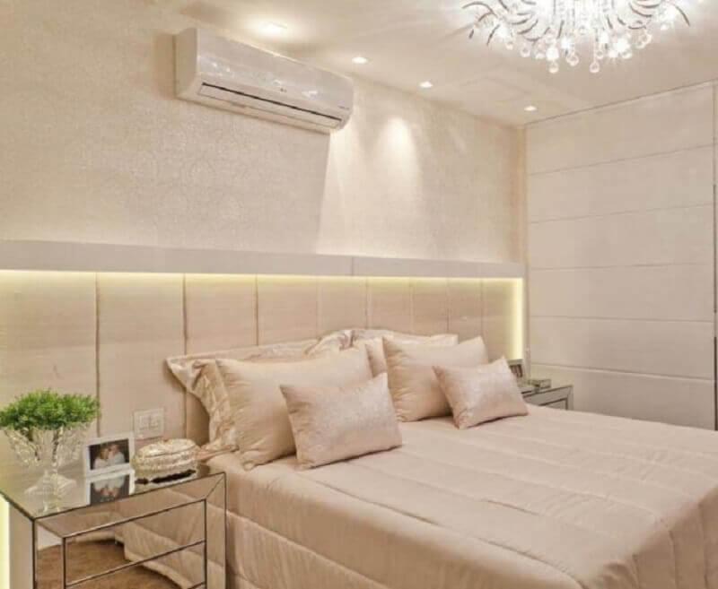 decoração de quarto na cor de creme Foto Pinterest