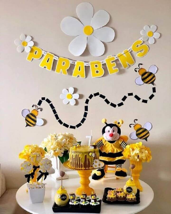 decoration of bumblebee messenger themes Photo Sou Mãe