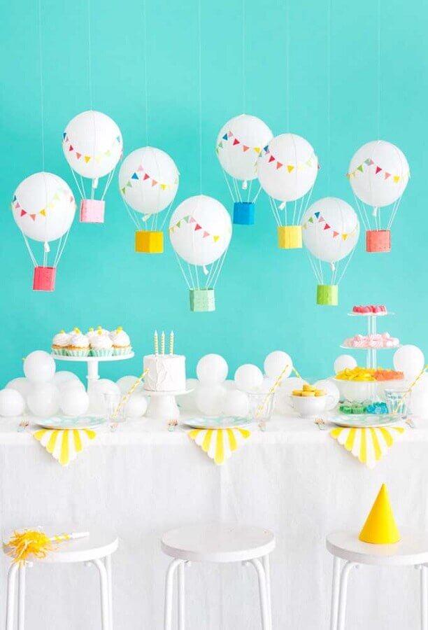 decoração delicada para festa infantil simples bonita Foto Ideias Decor