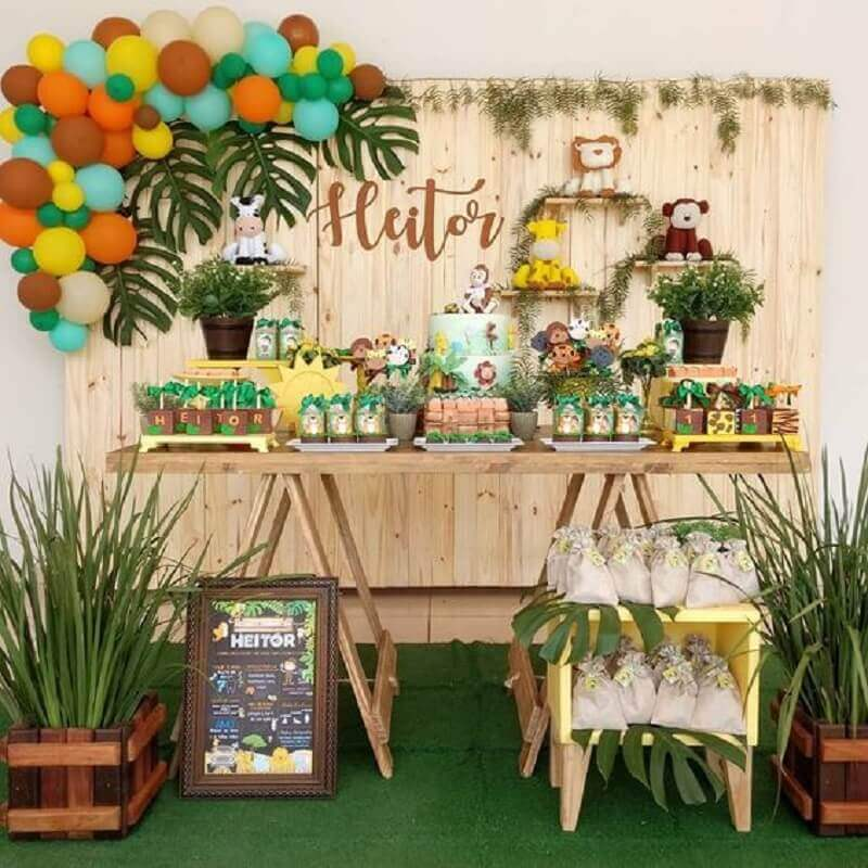 decoration safari party as mesversário Foto Pinterest themes