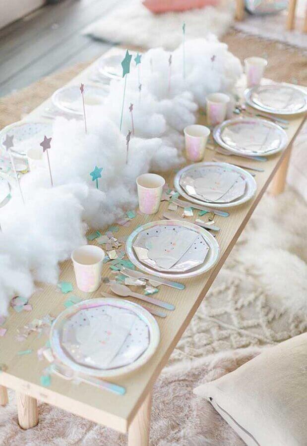 decoração lúdica para festa infantil simples bonita Foto A Minha Festinha
