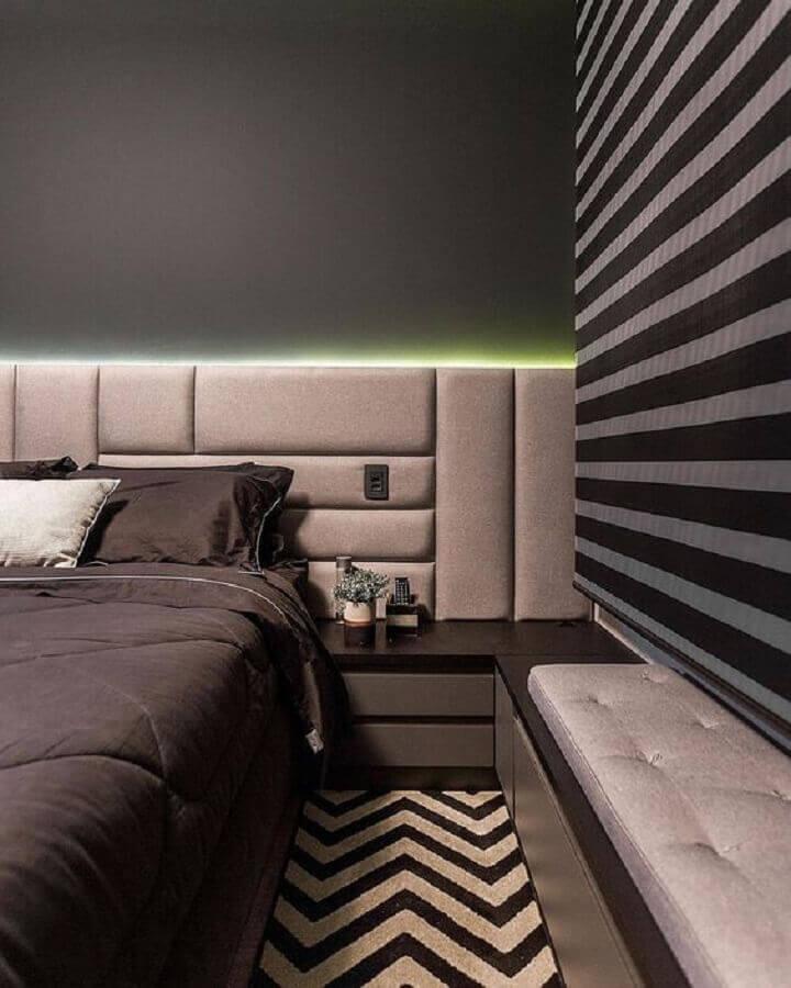 decoração moderna com tapete para quarto cinza Foto Pinterest