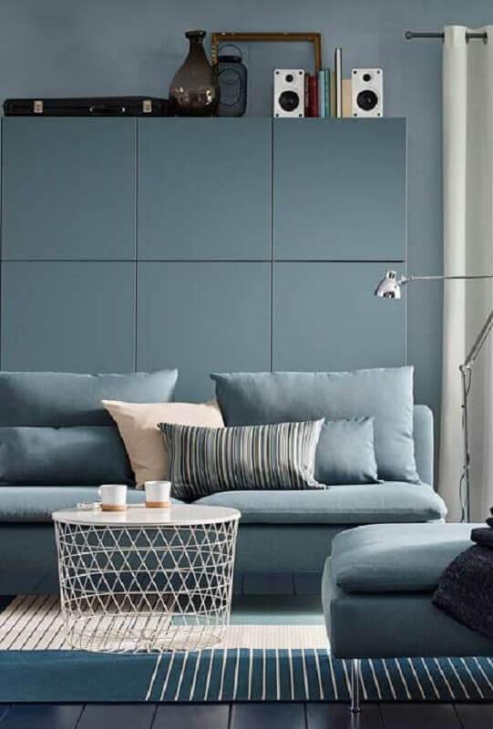 decoração moderna para sala azul claro Foto Futurist Architecture