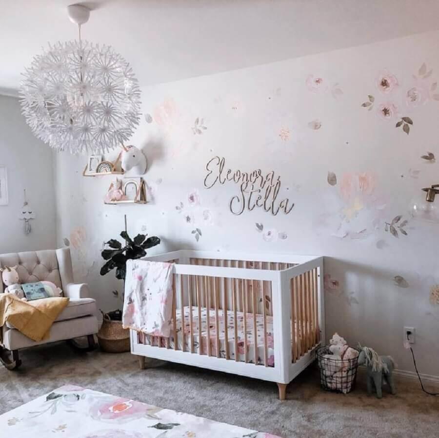 decoração para quarto de bebê unicórnio Foto Pinterest