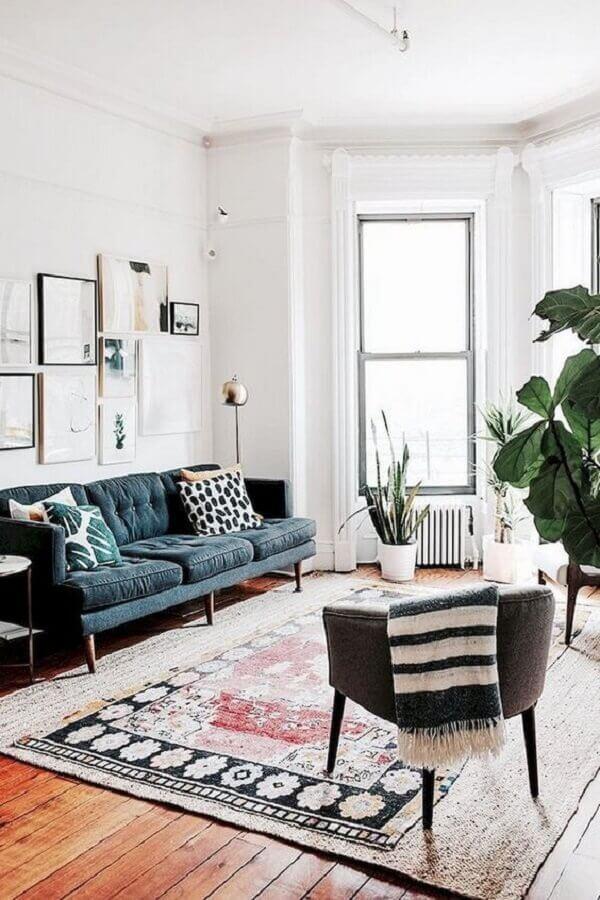 decoração para sala com dois modelos de tapete diferente Foto Futurist Architecture