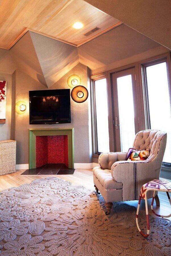 decoração simples com tapete de barbante Foto Houzz