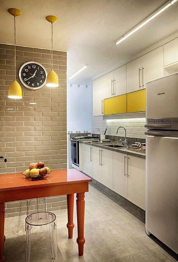 decoração simples de cozinha completa pequena Foto Home Fashion Trend