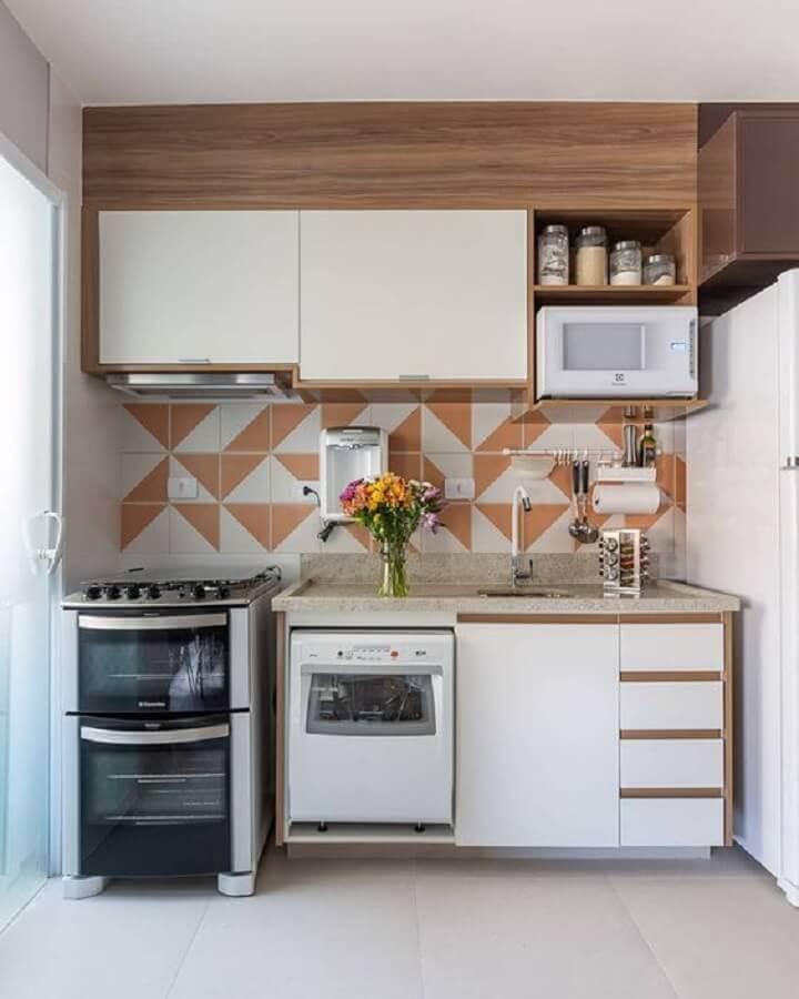 decoração simples para cozinha compacta completa Foto Pinterest