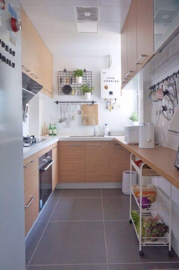 decoração simples para cozinha planejada completa Foto Pinterest