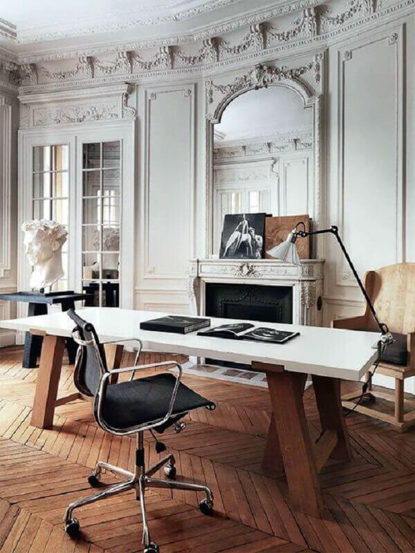 decoração sofisticada com cadeira de escritório preta Foto Futurist Architecture