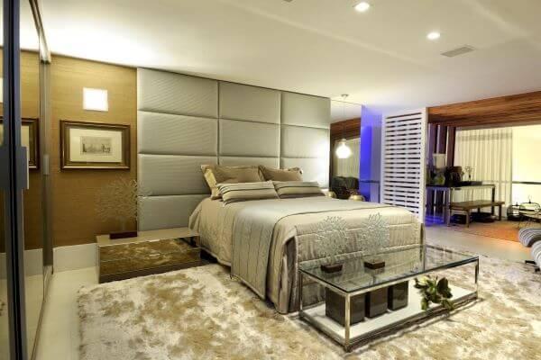 Quarto com cama box casal padrão