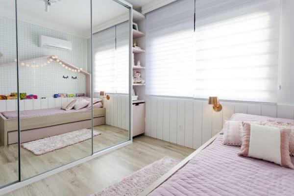 Guarda roupa infantil menina com espelho