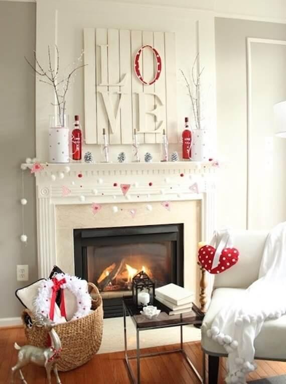 Decoração romântica em casa clean