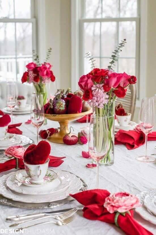 Decoração romântica para jantar no dia dos namorados
