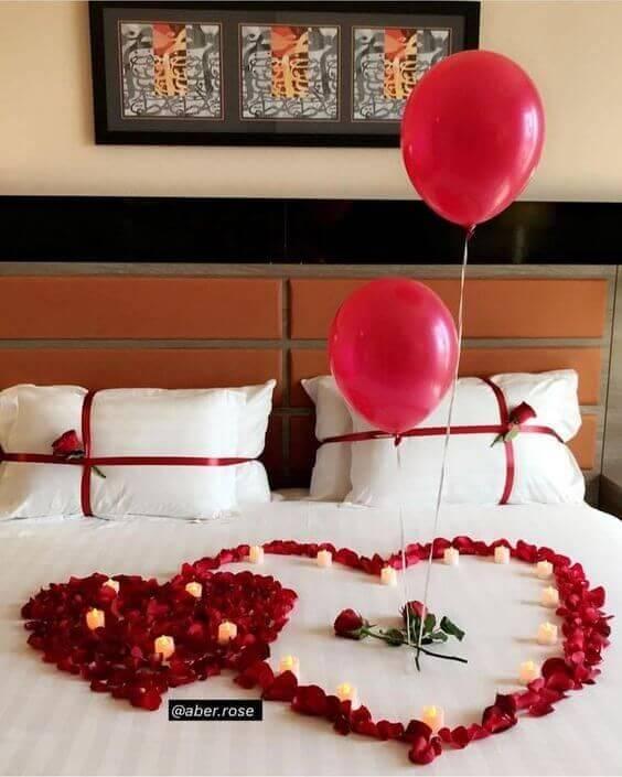 Decoração romântica com quarto moderno