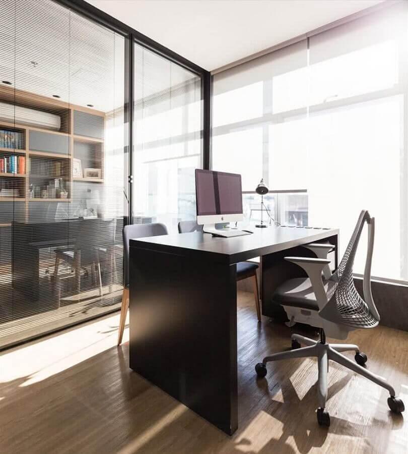 design moderno de cadeira de escritório confortável com rodinhas Foto Pinterest