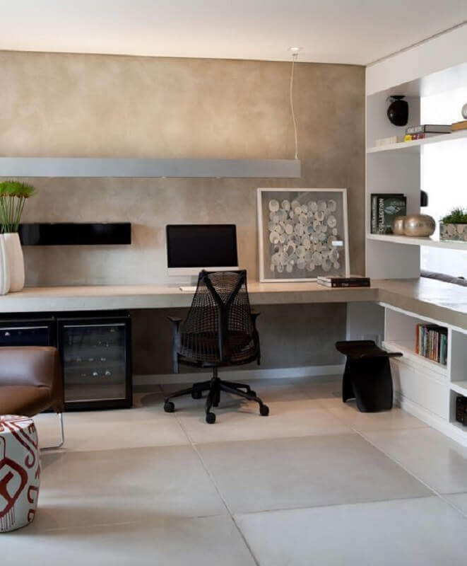 design moderno de cadeira de escritório preta com braço Foto Pinterest