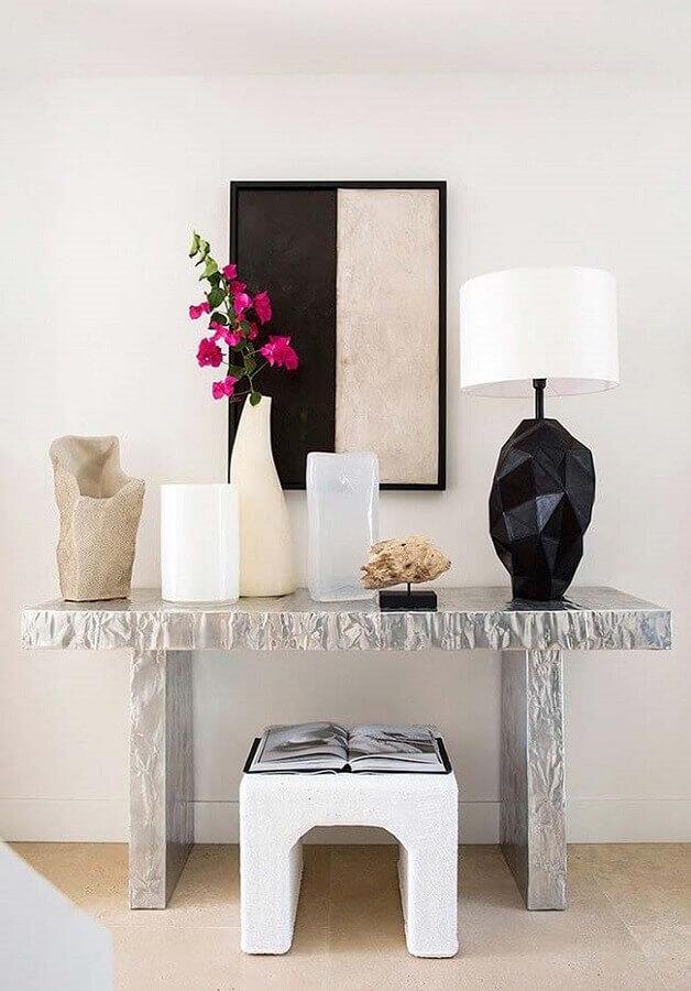 design moderno para base de abajur preto e branco Foto Pinterest