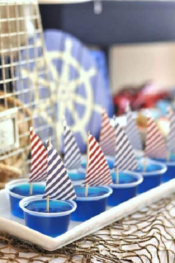 Decorated sweets for mesversário menino marinheiro theme Photo Pinterest