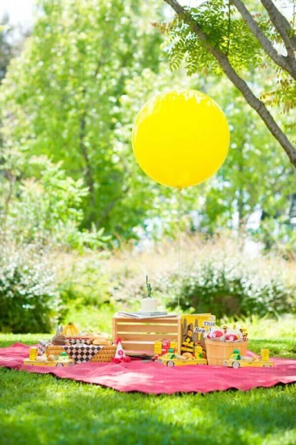 festa infantil simples ao ar livre Foto Pinterest