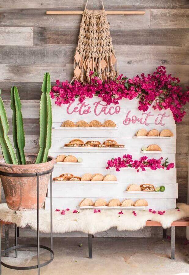 festa mexicana com cantinho dos tacos Foto Beijos Events