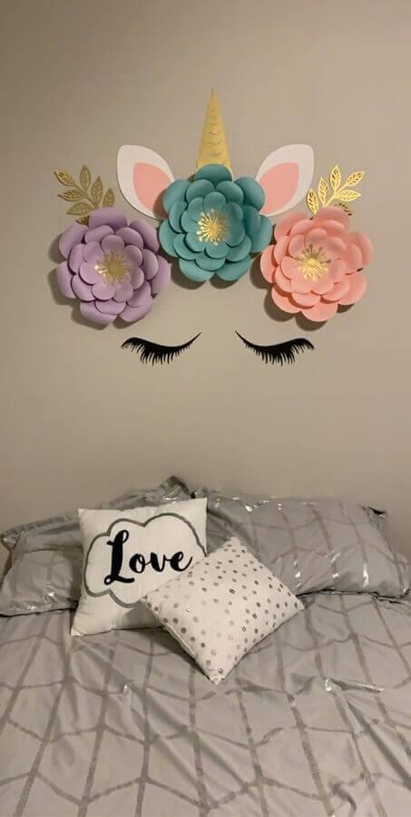 flores de papel para decoração de quarto do unicórnio Foto Wish Upon A Flower
